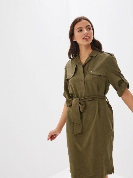 Платье прямое зеленый Argent
