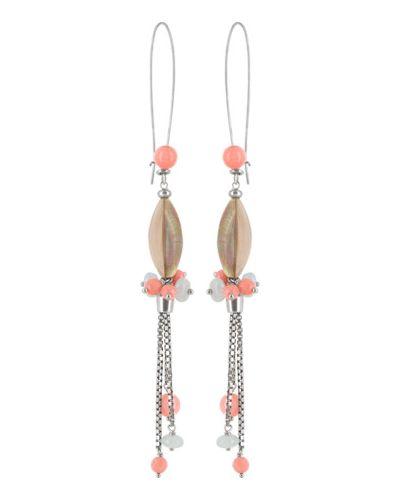 Розовые серьги Nature Bijoux
