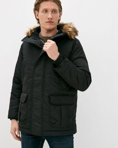 Черная утепленная куртка Gap