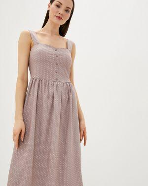 Платье платье-сарафан бежевое Remix