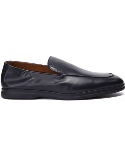 Кожаные синие туфли закрытые Doucal's