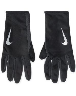 Czarne rękawiczki z nylonu Nike