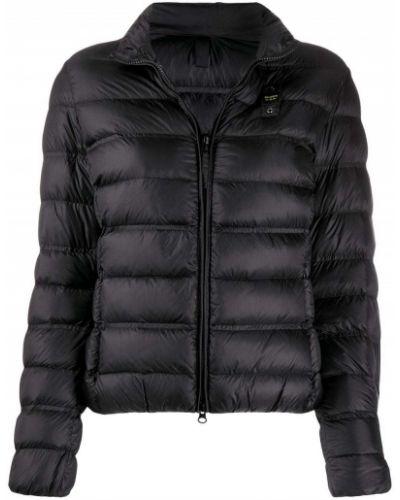 Длинная куртка черная стеганая Blauer