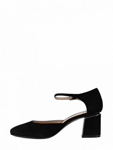 Велюровые черные туфли Ekonika