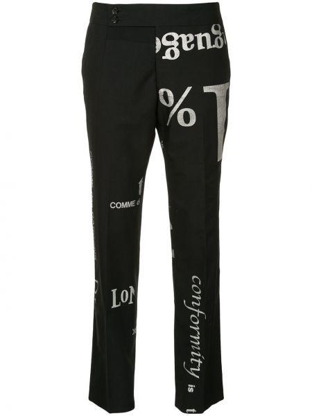 Прямые черные брюки винтажные с поясом Comme Des Garçons Pre-owned