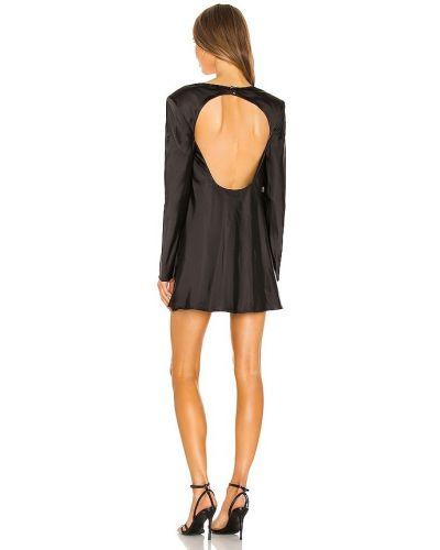 Черное платье с декольте свободного кроя C/meo