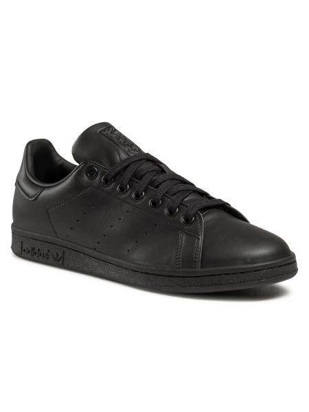 Klasyczne czarne półbuty sznurowane Adidas