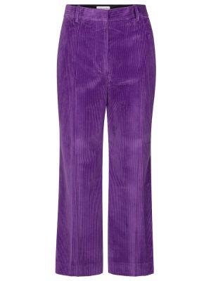 Фиолетовые брюки вельветовые свободного кроя Victoria Beckham