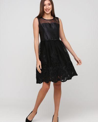 Пышное черное вечернее платье с вышивкой Apart