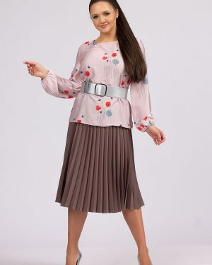 Плиссированная юбка с поясом ангелика