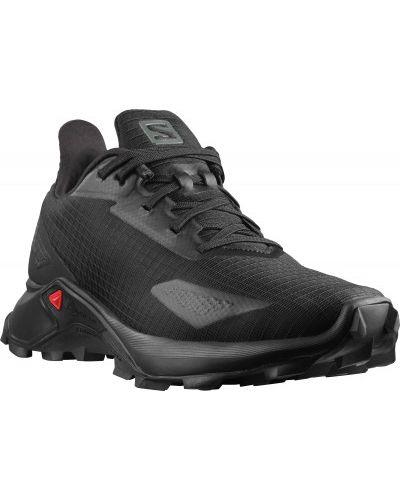 Кожаные черные кроссовки беговые для бега Salomon