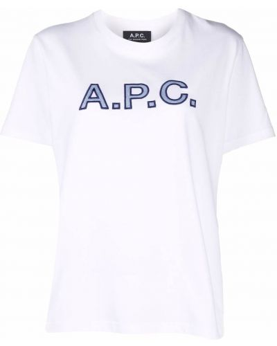 Хлопковая футболка - белая A.p.c.