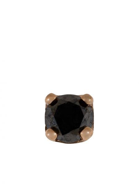 Czarne złote kolczyki ze złota z diamentem Bvla