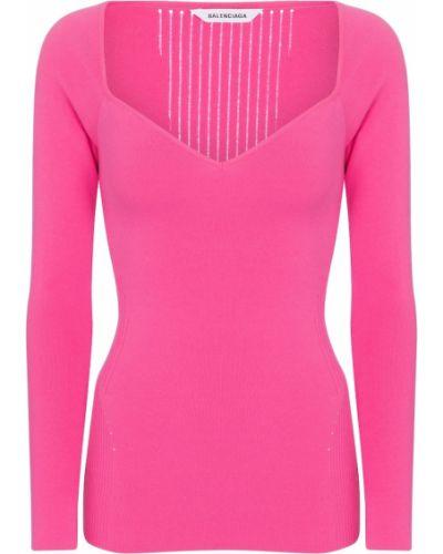 Różowy sweter Balenciaga