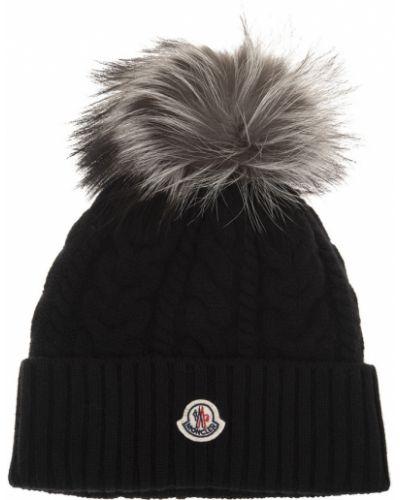 Czarna czapka beanie Moncler