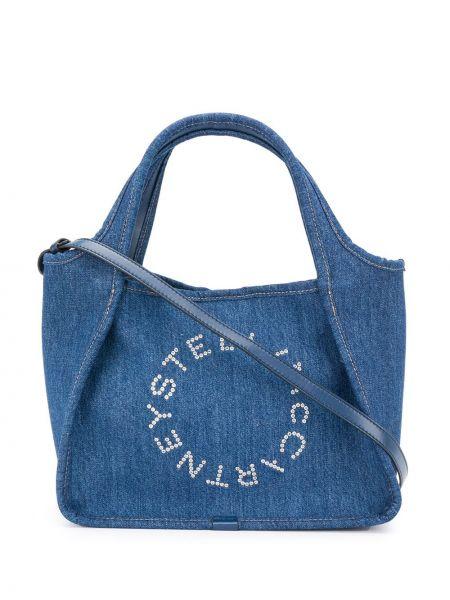 Сумка-тоут джинсовая с заклепками Stella Mccartney