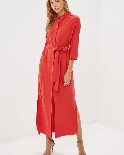 Платье платье-рубашка красный Pepen