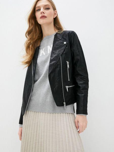 Кожаная куртка черная весенняя Dkny