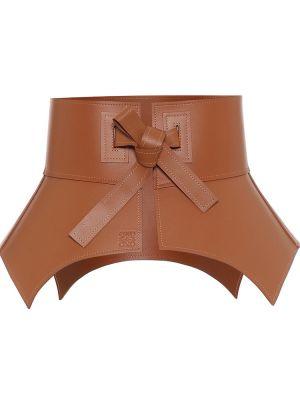 Кожаный корсет - коричневый Loewe