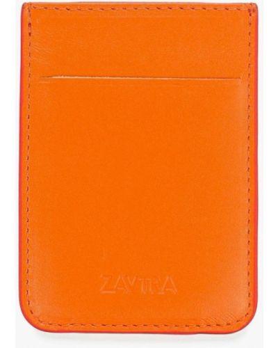 Визитница оранжевый Zavtra