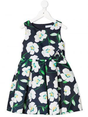 Sukienka w kwiaty - niebieska Abel & Lula