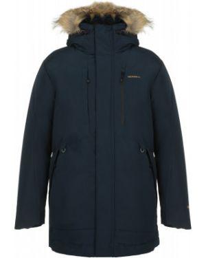 Синяя зимняя куртка на молнии свободного кроя с карманами Merrell