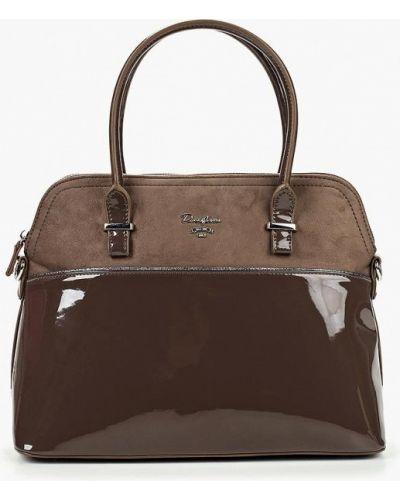 Кожаный сумка велюровая с ручками David Jones