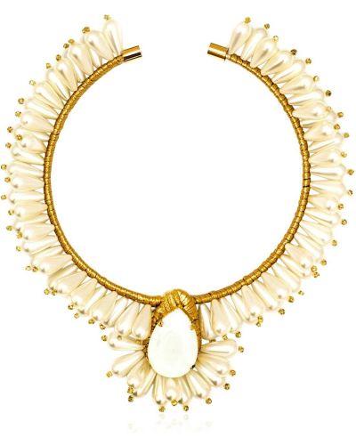 Złoty choker perły Vanina