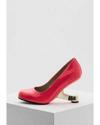 Розовые кожаные туфли для офиса United Nude