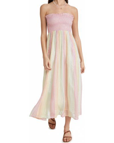 Платье из вискозы с карманами с нашивками Sundress
