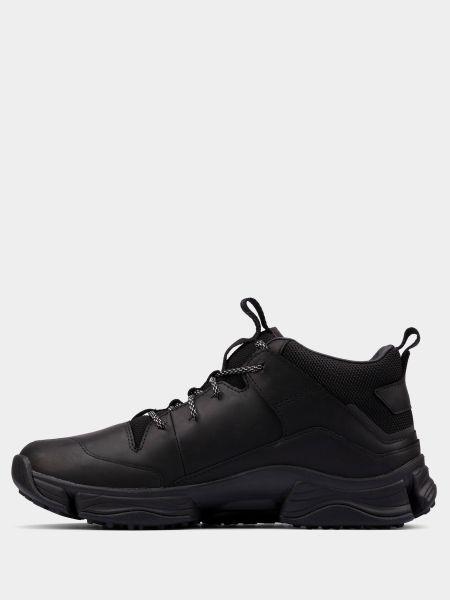 Кожаные черные ботинки на шнуровке Clarks