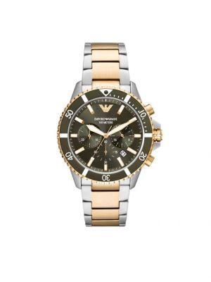 Zegarek srebrny Emporio Armani