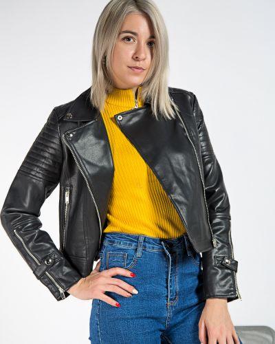 С рукавами брендовая черная куртка Aftf Basic