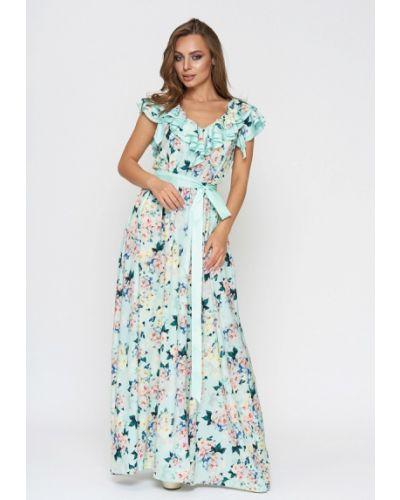Платье весеннее бирюзовый Sellin