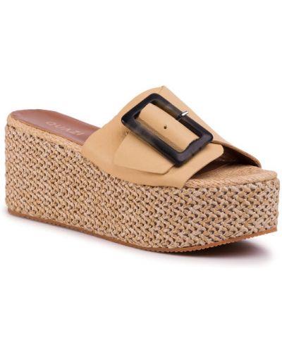 Sandały espadryle - żółte Quazi