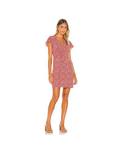 Красное шелковое платье на пуговицах с подкладкой Rails