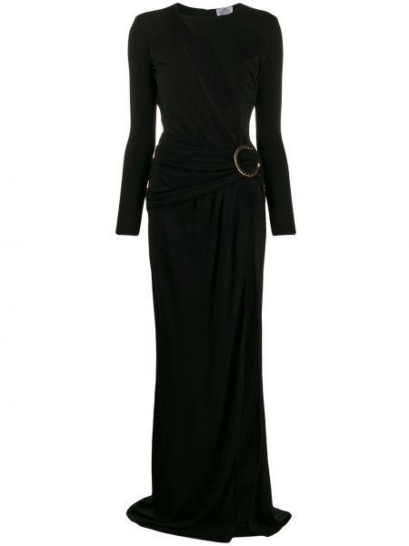 Черное платье с вырезом на молнии из вискозы Elisabetta Franchi