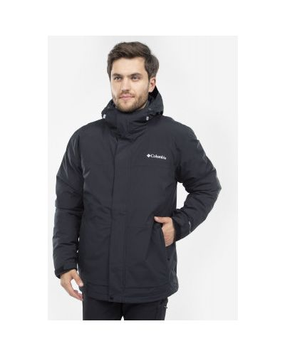 Куртка с капюшоном утепленная черная Columbia