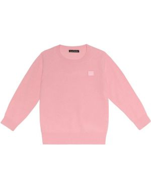 Розовый свитер Acne Studios Kids