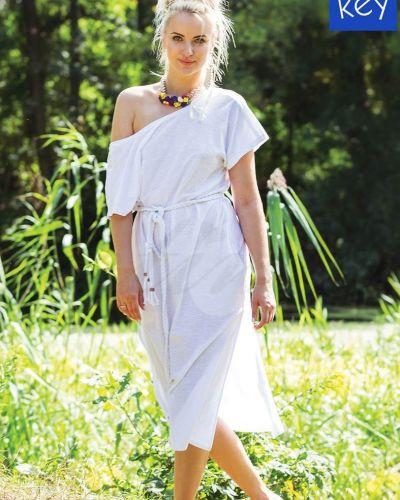 Платье-туника - белое Key