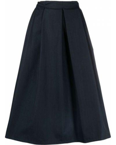 Хлопковая с завышенной талией синяя юбка SociÉtÉ Anonyme