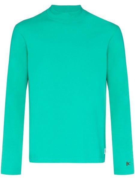 Zielona bluza z haftem z długimi rękawami District Vision
