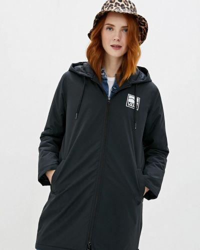 Утепленная куртка черная осенняя Vans