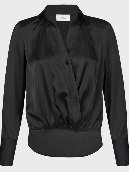 Черная блузка на пуговицах Vicolo