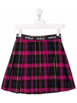 Spódnica z haftem - czarna Gaelle Paris Kids