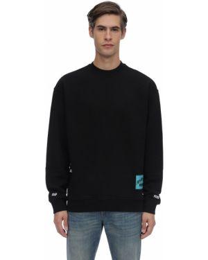 Czarna bluza z haftem bawełniana A$ap Ferg By Platformx