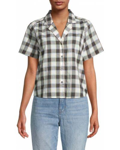 Белая рубашка с принтом Madewell