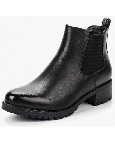Кожаные ботинки осенние на каблуке высокие Super Mode