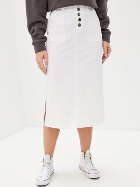 Джинсовая юбка белая весенняя Unq