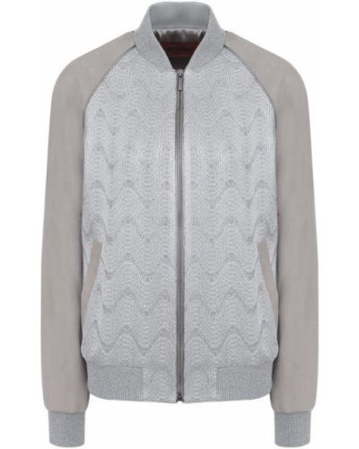 Кожаная куртка с узором шелковая Missoni